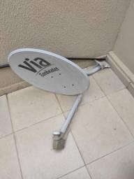 Antena com Lnb duplo