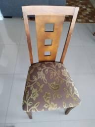 Jogo de 6 cadeiras em madeira