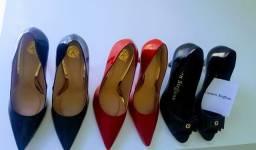 3 pares de sapatos de Luxo