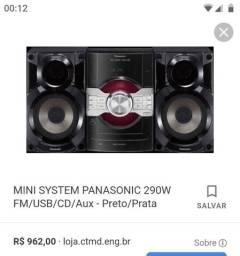 Troco um som Panasonic com nota fiscal