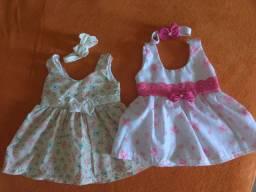 Dois lindos vestidos para bebê.