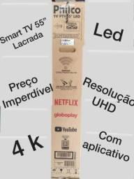 """Smart TV Philco 55"""" lacrada com NF 2.700,00 (Divido em até 12X, troca em moto, etc)."""