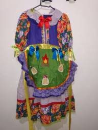 Vestido de Festa Junina Roxo