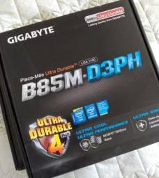 Placa-mãe Gigabyte Ga-b85m-d3ph, Intel Lga 1150 (com defeito)