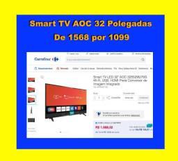 S-H-O-W- Modelo 2020 Smart TV _AOC 32 _Nota_Fiscal_ Garantia *3208jyyny