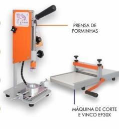 Prensa de forminhas digital + máquina de corte e vinco