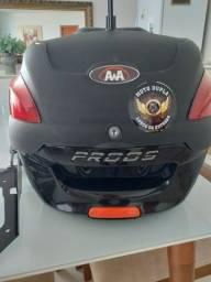 Baú traseiro de moto com suporte