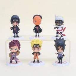 Miniaturas Action Figure: Naruto, Itachi, Obito, KillerBee, Sasuke e Gaara