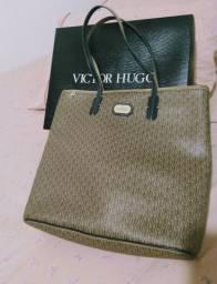 Bolsa couro Victor Hugo original