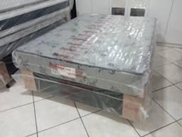 Cama box casal + colchão espuma D33