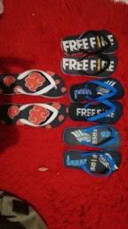 Chinelos free fire e akatsuki