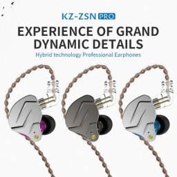 Fone Kz Zsn Pro Roxo Retorno De Palco + eartips