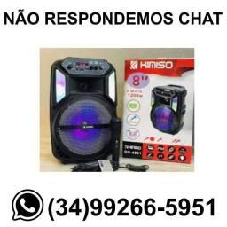 Caixa de Som Karaokê 1200w c/ Microfone