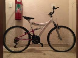 Bicicleta Aro 26 Track&bikes Tb 200 Xs 18 Marchas- Branca