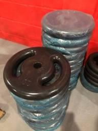 Anilhas de 20kg Emborrachadas 10X SEM JUROS