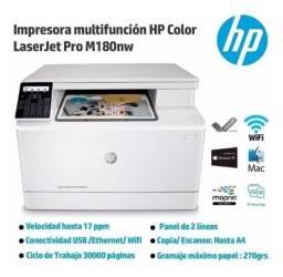 Multifuncional hp laserjet color pro m180nw - 110v