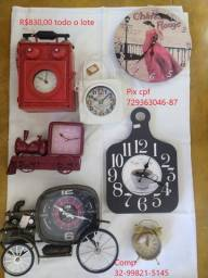 Lote de Relógios para decoração