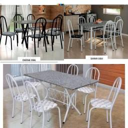 Mesas 6 cadeiras novas direto da fábrica olhar descrição