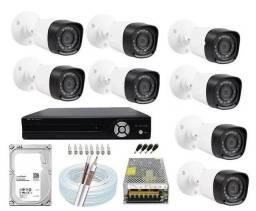 Kit 8 câmera Full HD