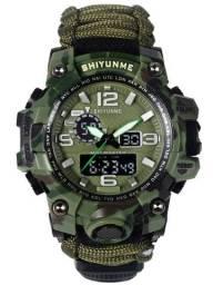 Relógio Sobrevivência Multifuncional 7em1 - Shiyunme Militar