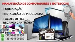 Técnico em Computadores e Notebooks / Recarga de Cartuchos