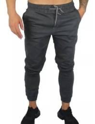 Calças Jeans Cargo Jogger