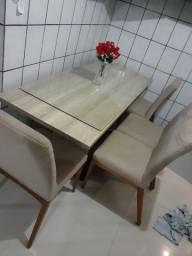 Mesa jantar c/ 4 cadeiras