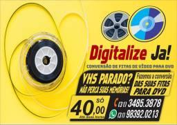 CONVERSÃO DE FITAS DE VÍDEO PARA DVD OU PENDRIVE