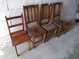 Cadeiras antiga madeira maciça