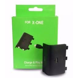 Kit Bateria + Carregador P/ Controle Xbox One Recarregável