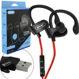 Fone Bluetooth Clip On Power Wireless C/ Microfone V5.0 Headphone Sports Knup KP-442