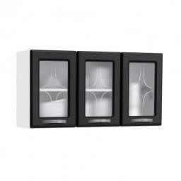 Armário aéreo vidro 3 portas Aço (Frete Grátis)