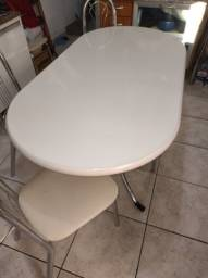 Conjunto de mesa de jantar em Fórmica com 6 cadeiras