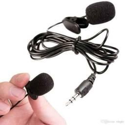 Microfone lapela P3 novo a pronta entrega