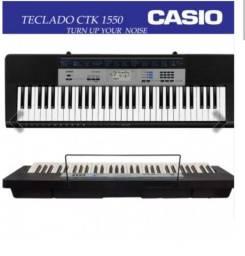 Teclado Casio CTK 1550 + Fonte e Suporte X<br><br>