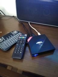"""Smart Box + MiniControle +SoundBar + TV 49"""" - Home Cinema"""