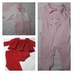Saida maternidade, conjunto calça bore é blusinha, macacão de gatinho