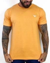 Camiseta Armani Básica Amarela M
