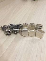 Lote com 11 anéis em Prata 950 / 200 Gramas