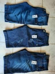 Kit com 10 Shorts/Bermudas Jeans com Lycra Atacado Para Revender direto da fábrica