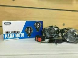 Par Farol De Milha Auxiliar Para Moto U7 Led Knup Kp-mt03<br>