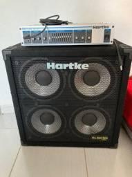 Cabeçote + Caixa Hartke 4x10 XL Séries ( Troco Baixo 5 Cordas acima de 4k )