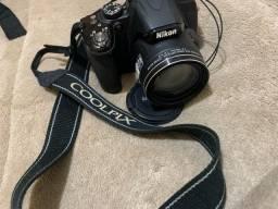 Câmera coolpix P520 superzoom NIKON (com duas baterias)
