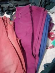 Fardo de roupas com 100 calças Jeans