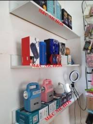 Prateleiras, armário e outros