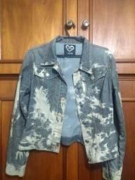 Jaqueta jeans manchada