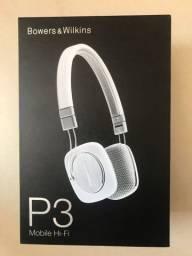 P3 Headphones Hi-Fi B&W Branco Novo