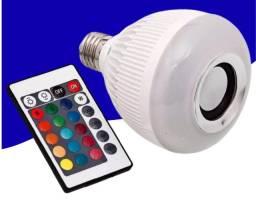 Caixa De Som Lâmpada De Led Bluetooth e Controle