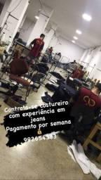 Contrata-se costureiro exp em jeans
