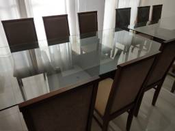 Torro - Mesa tampo de vidro - 06 cadeiras -  Campo Largo